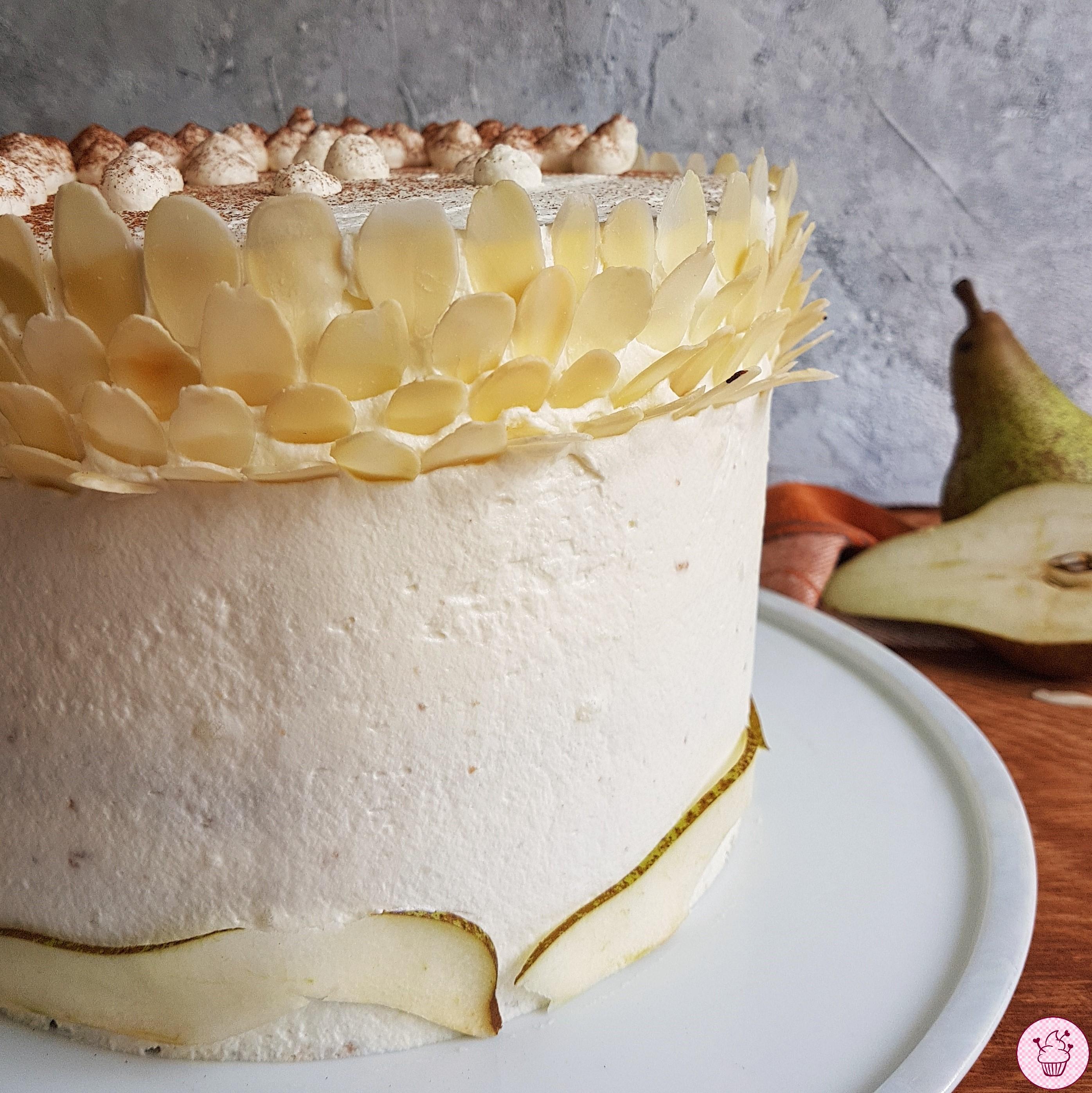 Birnen-Mandel-Torte