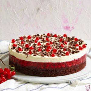 Brownie-Johannisbeer-Torte